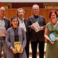 The shortlisted authors for the 2010 Man Booker Prize L-r: Damon  Galgut, Andrea Levy, Howard Jacobson, Peter Carey, Emma Donoghue, Tom McCarthy<br /> <br /> Graham Jepson/Writer Pictures<br /> contact +44 (0)20 822 41564<br /> info@writerpictures.com<br /> www.writerpictures.com