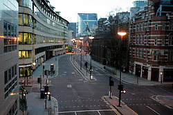 UK ENGLAND LONDON 25DEC04 - Deserted streets in the City of London in the afternoon...jre/Photo by Jiri Rezac ..© Jiri Rezac 2004..Contact: +44 (0) 7050 110 417.Mobile: +44 (0) 7801 337 683.Office: +44 (0) 20 8968 9635..Email: jiri@jirirezac.com.Web: www.jirirezac.com..© All images Jiri Rezac 2004 - All rights reserved.