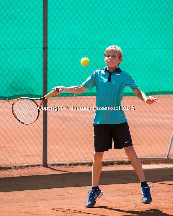 Bavarian Junior Open, U-12, Nicolas Pfennig<br /> <br /> Tennis - Bavarian Junior Open 2016 - Tennis Europe Junior Tour -  SC Eching - Eching - Bayern - Germany  - 13 August 2016. <br /> &copy; Juergen Hasenkopf