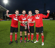 Tayport  goal scorers  Gary Sutherland, Dale Robertson, Stefan Elvin and Grant Lawson celebrate after beat ing North End (white) 4-1 in the GA Engineering Cup Final at Tannadice<br /> <br />  - &copy; David Young - www.davidyoungphoto.co.uk - email: davidyoungphoto@gmail.com