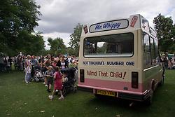 Ice Cream van at fun day,