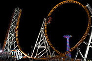 The Thunderbolt Roller-Coaster at the Coney Island Luna Park