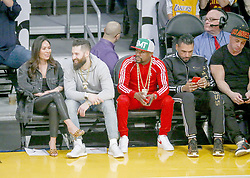 February 27, 2019 - Los Angeles, California, U.S - Floyd Mayweather Jr. attends an NBA basketball game between Los Angeles Lakers and New Orleans Pelicans Wednesday, Feb. 27, 2019, in Los Angeles. (Credit Image: © Ringo Chiu/ZUMA Wire)