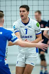 21-12-2019 NED: AVV Keistad - Lycurgus, Amersfoort<br /> 1/4 final National Cup season volleyball men, Lycurgus win 3-0 / Frits van Gestel #7 of Lycurgus