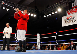July 27, 2007; Saratoga Springs, NY, USA; The National Anthem is played before the ESPN2 fights at the Saratoga Springs City Center.