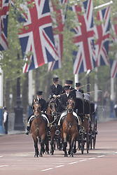© Licensed to London News Pictures. 28/05/2016. London, UK. The Major's General's Review takes place. Hundreds of troops are taking part in the first of two rehearsals for the Trooping the Colour ceremony, the Queen's annual birthday parade. Photo credit: Peter Macdiarmid/LNP