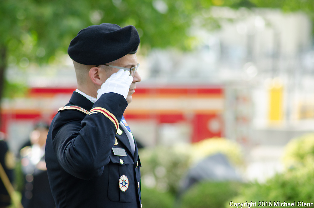 Sept 11, 2016, Bayside, NYC //  Members of the 77th RRC (USAR) gather at Fort Totten to remember members of the FDNY, that were also members of the USAR killed in the 9/11 attacks  //  Michael Glenn/ Glenn Images