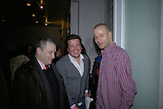 Norman Rosenthall, Stefan Kalmar and Wolfgang Tillmans, The Secret public/The Last Days of the British Underground. 1978-1988. I.C.A. London.  21 March 2007.  -DO NOT ARCHIVE-© Copyright Photograph by Dafydd Jones. 248 Clapham Rd. London SW9 0PZ. Tel 0207 820 0771. www.dafjones.com.