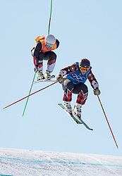 21.02.2018, Phoenix Snow Park, Bokwang, KOR, PyeongChang 2018, Freestyle, Ski Cross, Herren, im Bild Silbermedaillengewinner Marc Bischofberger (SUI), Goldmedaillengewinner Brady Leman of Canada // silver medalist Marc Bischofberger of Switzerland gold medalist and Olympic champion Brady Leman of Canada during the men's Freestyle Ski Cross competition of the Pyeongchang 2018 Winter Olympic Games at the Phoenix Snow Park in Bokwang, South Korea on 2018/02/21. EXPA Pictures © 2018, PhotoCredit: EXPA/ Johann Groder
