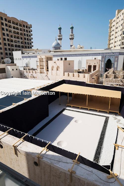 "art installation by Taro Shinoda called ""Karesansui""  and view over Biennial venue  at 2015 Sharjah Biennial art festival in Sharjah united Arab Emirates"