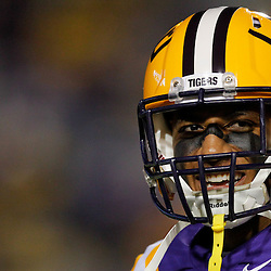 November 12, 2011; Baton Rouge, LA, USA; LSU Tigers safety Eric Reid (1) prior to kickoff of of a game against the Western Kentucky Hilltoppers at Tiger Stadium. LSU defeated Western Kentucky 42-9. Mandatory Credit: Derick E. Hingle-US PRESSWIRE