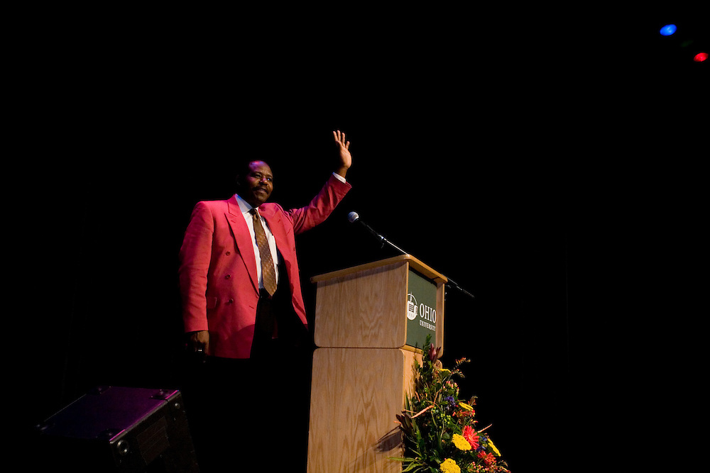 Paul Rusesabagina speaks at Ohio University on Monday, October 10, 2005