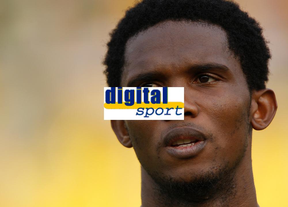 Photo: Steve Bond/Richard Lane Photography.<br />Egypt v Cameroun. Africa Cup of Nations. 22/01/2008. Samuel Eto'o of Cameroon & Barcelona