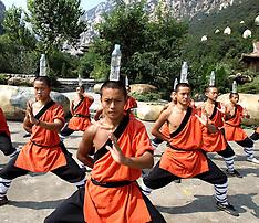 China - Shaolin Monks Practicing Martial Arts - 29 Sep 2016