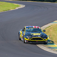 Alton, VA - Aug 26, 2016:  The Automatic Racing Aston Martin races through the turns at the Oak Tree Grand Prix at Virginia International Raceway in Alton, VA.