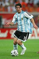 Lionel Messi Argentinien<br /> Fussball WM 2006 Niederlande - Argentinien <br /> Nederland- Argentina<br />  Norway only