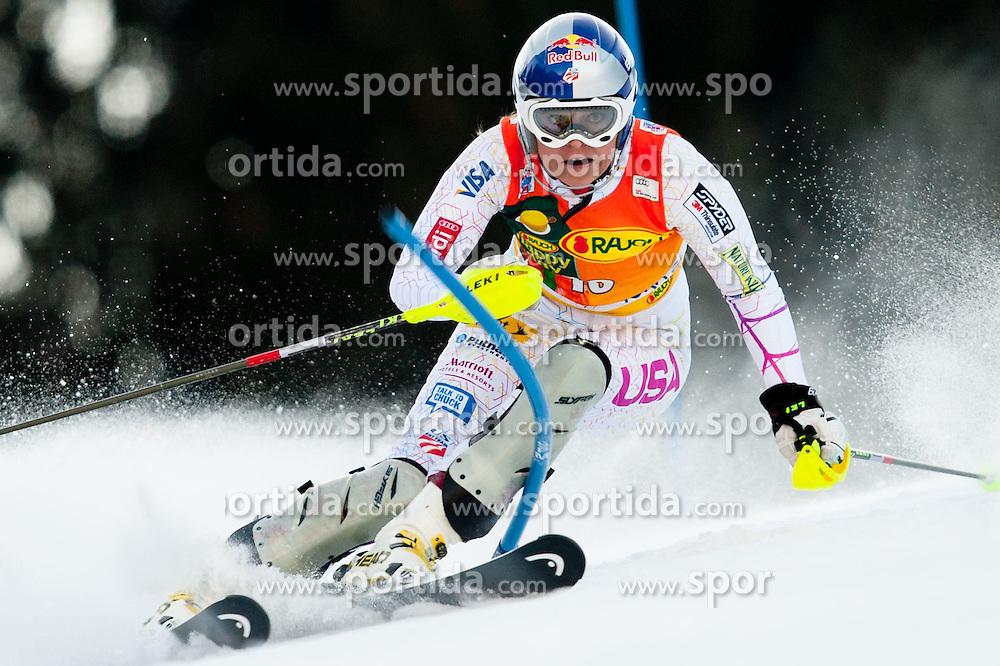 Lindsey Vonn of USA during 1st Run of 48th Golden Fox Audi Alpine FIS Ski World Cup Ladies Slalom, on January 22, 2012 in Podkorn, Kranjska Gora, Slovenia. (Photo By Matic Klansek Velej / Sportida.com)