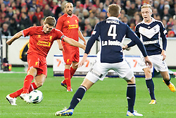 © Licensed to London News Pictures. 24/7/2013. Steven Gerrard in action during the Melbourne Victory Vs Liverpool F.C at the Melbourne Cricket Ground, Melbourne, Australia. Photo credit : Asanka Brendon Ratnayake/LNP