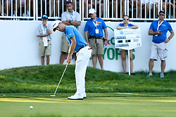 September 4, 2017 - Norton, Massachusetts, United States - Justin Thomas putts the 17th hole during the final round of the Dell Technologies Championship at TPC Boston. (Credit Image: © Debby Wong via ZUMA Wire)