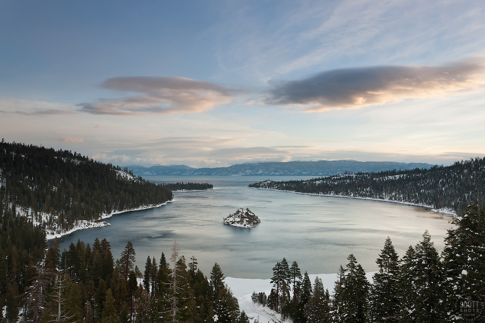 """Emerald Bay 6"" - Photograph of the world famous Emerald Bay in Lake Tahoe, CA in the early morning."