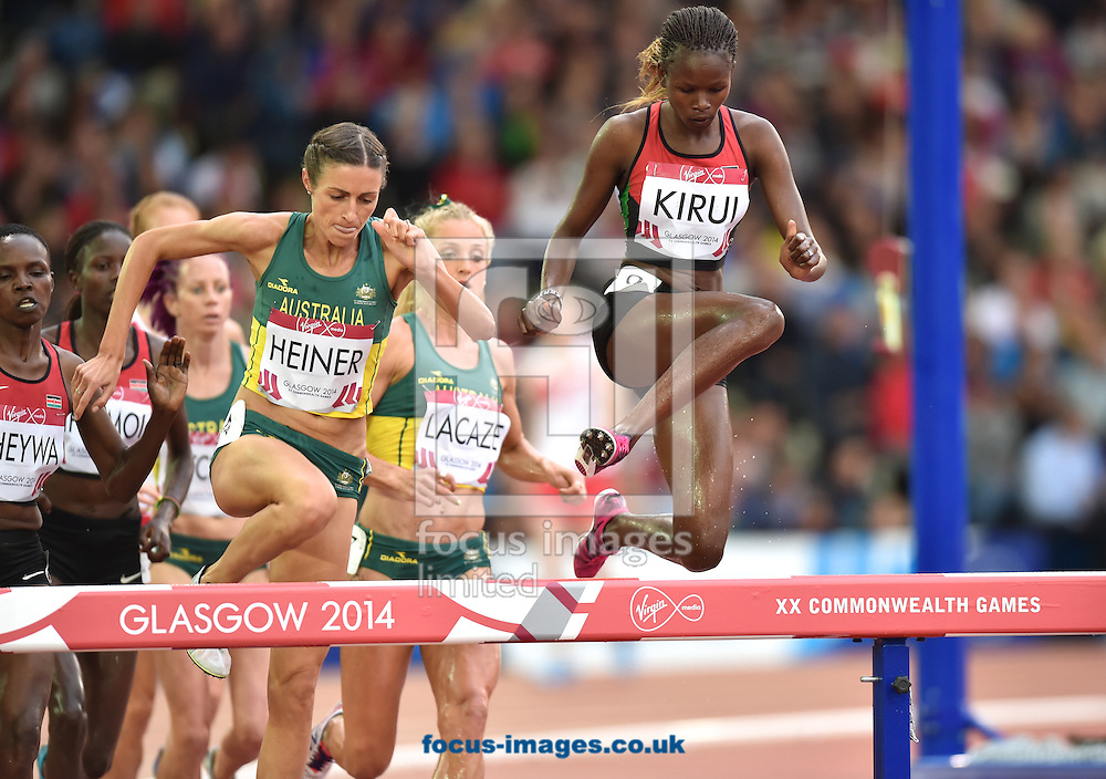 Purity cherotich Kirui Kenya competing in the Women's 3000m Steeplechase on day four of the athletics  at Hampden Park, Glasgow<br /> Picture by Alan Stanford/Focus Images Ltd +44 7915 056117<br /> 29/07/2014