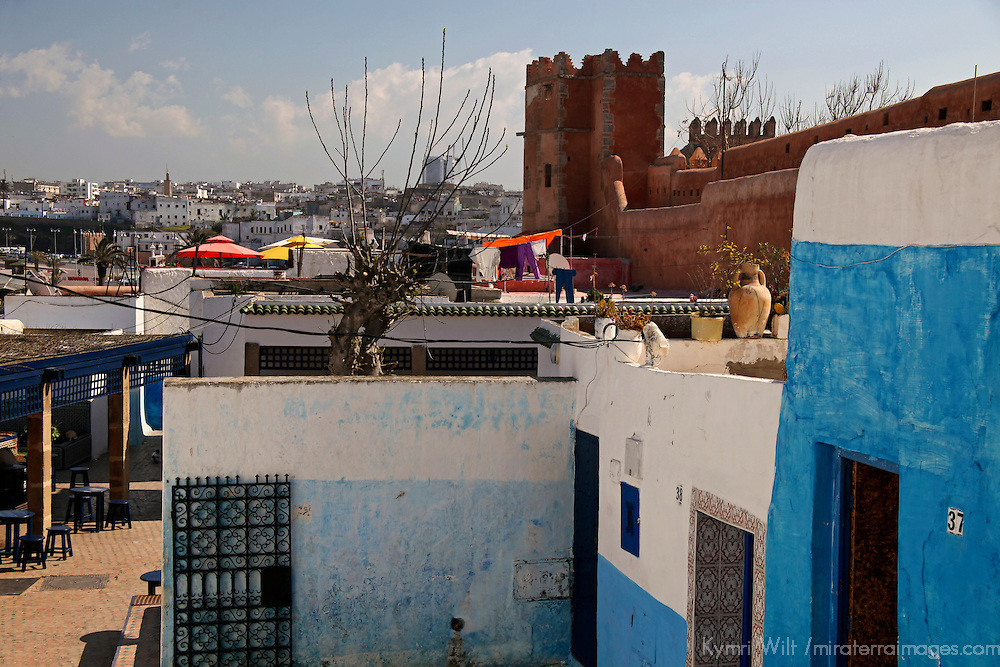 Africa, Morocco, Rabat. Kasbah Oudaya, the old city of Rabat.