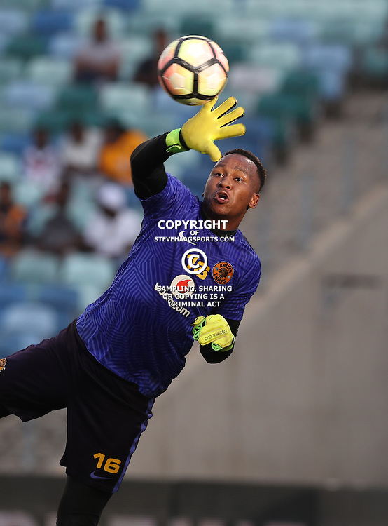 DURBAN, SOUTH AFRICA - FEBRUARY 18: Brilliant Khuzwayo G/K of Kaizer Chiefs during the Absa Premiership match between Kaizer Chiefs and Highlands Park at Moses Mabhida Stadium on February 18, 2017 in Durban, South Africa. (Photo by Steve Haag/Gallo Images)