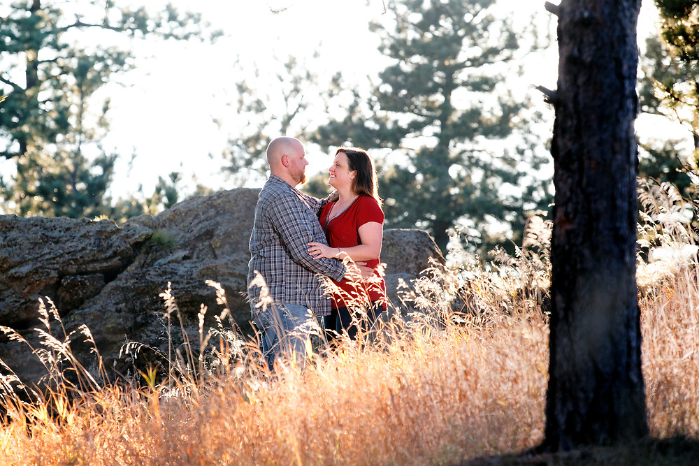 Lauren Grillo and Mike Busch engagement session at Genesse Park in Denver, Colo., Saturday, Nov. 11, 2017<br /> <br /> Photo by Barton Glasser