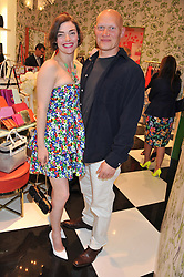 CAMILLA RUTHERFORD and DOMINIC BURNS at the Kate Spade NY hosted Chelsea Flower Show Tea Party held at Kate Spade, 2 Symons Street, London on 23rd May 2013.