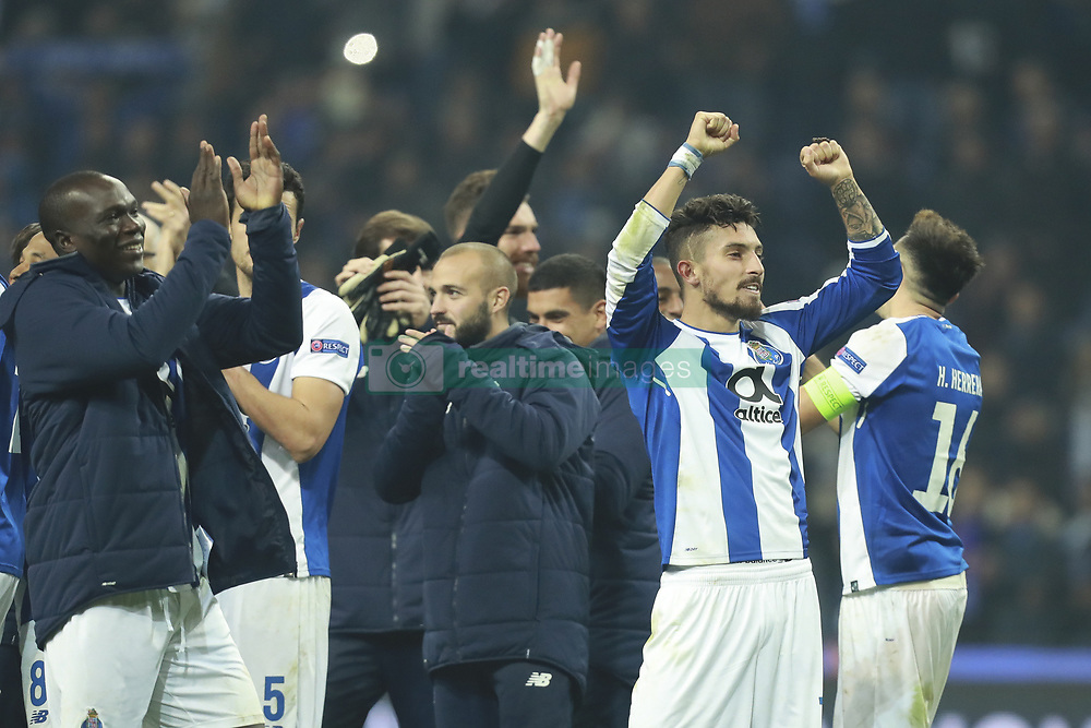December 6, 2017 - Na - Porto, 06/12/2017 - Football Club of Porto received, this evening, AS Monaco FC in the match of the 6th Match of Group G, Champions League 2017/18, in Estádio do Dragão. Alex Telles at the end of the game  (Credit Image: © Atlantico Press via ZUMA Wire)