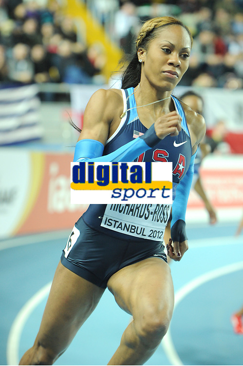 ATHLETICS - WORLD CHAMPIONSHIPS INDOOR 2012 - ISTANBUL (TUR) 09 to 11/03/2012 - PHOTO : STEPHANE KEMPINAIRE / KMSP / DPPI - <br /> 400 M - WOMEN - FINALE - GOLD MEDALE - SANYA RICHARDS-ROSS (USA)