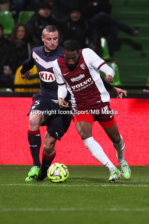 Nicolas PALLOIS / Romain METANIRE - 03.12.2014 - Metz / Bordeaux - 16eme journee de Ligue 1 -<br />