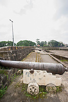 View of Cannons in Intramuros; Manila; Philippines