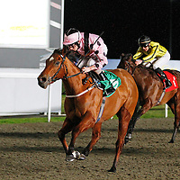 Pale Orchid and Luke Morris winning the 6.40 race