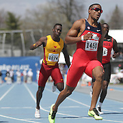 YOUNG, ISIAH - DRAKE RELAYS, 2013 - Mississippi's Isiah Young ran a fast 10.07 in the University Men's 100.  photo by David Peterson