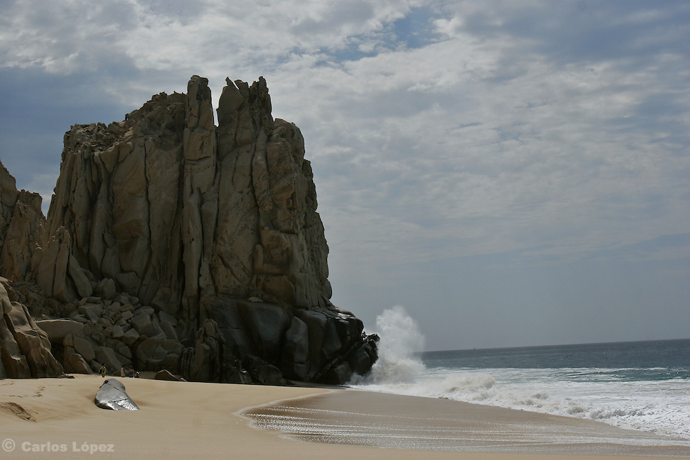 A nice huge natural rock formation in one beach of Cabo San Lucas, a very touristic place in the state of Baja California in Mexico.