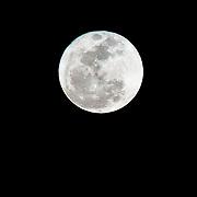 "Closeup of a rare ""super moon"" - as seen from Veteran's Memorial Park in Chandler, AZ on 3/19/11"