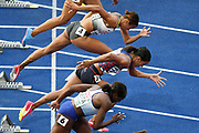 Orlann Ombissa-Dzangue competes in women 100m during the European Championships 2018, at Olympic Stadium in Berlin, Germany, Day 1, on August 7, 2018 - Photo Philippe Millereau / KMSP / ProSportsImages / DPPI