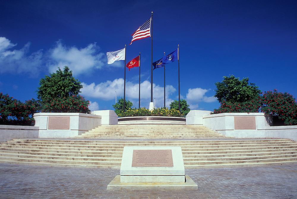 Court of Honor and Flag Circle at American Memorial Park, commemorating the Battle of Saipan in World War II; Garapan, Saipan.