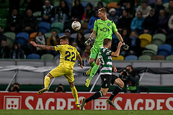 February 14, 2019 - Na - Lisbon, 02/14/2019 - Sporting Clube de Portugal received the Villarreal Club de Fútbol tonight at the Estádio de Alvalade in the first leg of the 16-game Europa League 2018/2019. Daniel Raba and Romain Salin  (Credit Image: © Atlantico Press via ZUMA Wire)