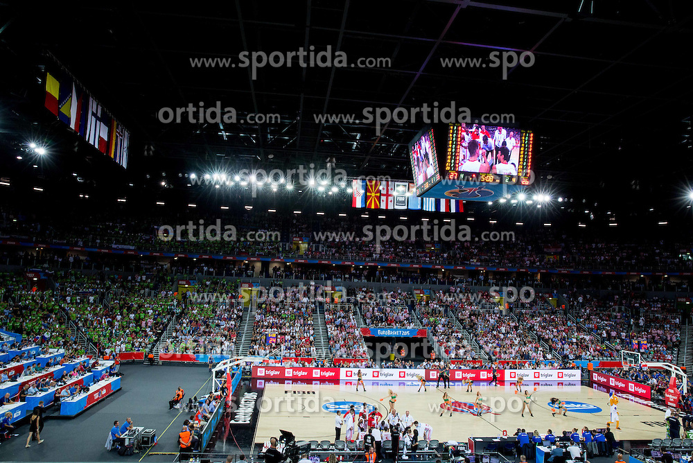 Arena during basketball match between Croatia and Slovenia at Day 1 in Group C of FIBA Europe Eurobasket 2015, on September 5, 2015, in Arena Zagreb, Croatia. Photo by Vid Ponikvar / Sportida