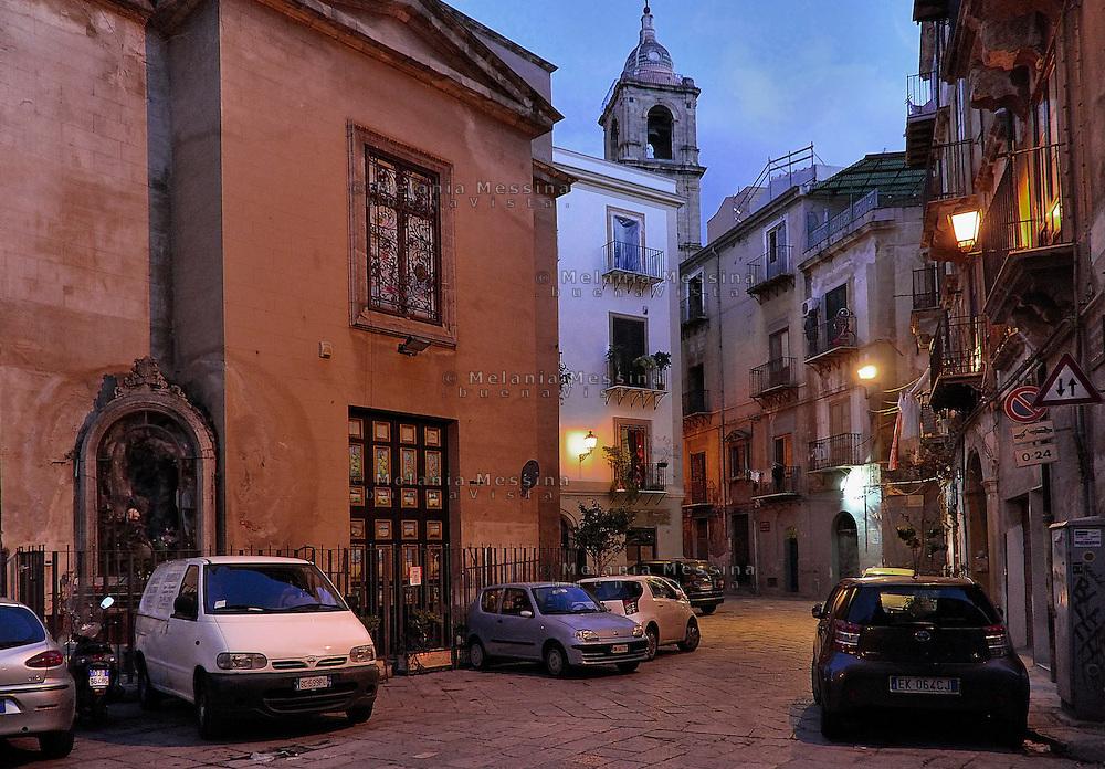 Palermo: alleys in the historic city center.<br /> Palermo: vicoli del centro storico