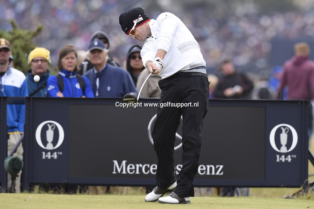 i16/07/2015 European Tour 2015, 144th OPEN CHAMPIONSHIP, Old Course, St. Andrews, Fife, Scotland, UK. 16 - 19 Jul. Zach  Johnson of United States during the first round.