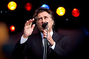Brian Ferry pictured on stage at the tall Ships Festival in Waterford..Picture Dylan Vaughan