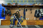 Shannon Szabados, first female hockey player in the Southern Professional Hockey League. Photographed for The New York Times, 2014 | http://nyti.ms/2HLNbnd