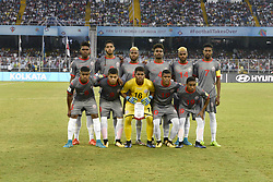 October 14, 2017 - Kolkata, West Bengal, India - New Caledonia football team during the FIFA U 17 World Cup India 2017 Group E matches in Kolkata. Player of Japan and New Caledonia in action during the FIFA U 17 World Cup India 2017 Group F match on October 14, 2017 in Kolkata. (Credit Image: © Saikat Paul/Pacific Press via ZUMA Wire)