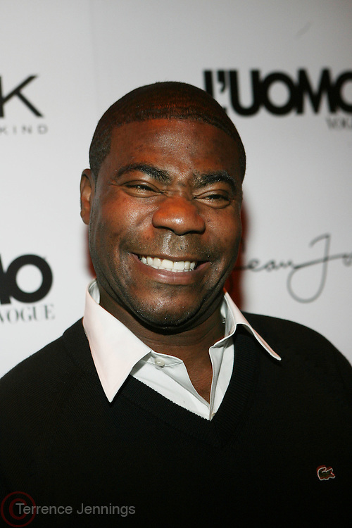 "Tracy Morgan pictured at the cocktail party celebrating Sean ""Diddy"" Combs appearance on the "" Black on Black "" cover of L'Uomo Vogue's October Music Issue"