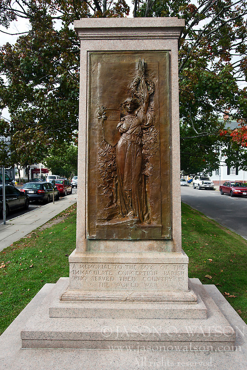 Memorial to those who fought in World War I from the Immaculate Conception Parish, Salem, Massachusetts, United States of America