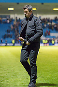 Fleetwood Town manager Joey Barton after  the EFL Sky Bet League 1 match between Gillingham and Fleetwood Town at the MEMS Priestfield Stadium, Gillingham, England on 3 November 2018.<br /> Photo Martin Cole