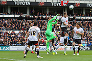 Derby goalkeeper Scott Carson makes a save during the Sky Bet Championship match between Derby County and Bolton Wanderers at the iPro Stadium, Derby, England on 9 April 2016. Photo by Aaron  Lupton.